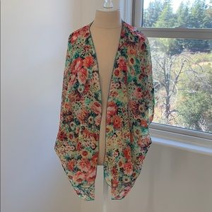 Band of Gypsies Floral Duster Cardigan M/L